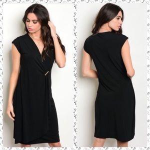 Little Black Dress Faux Wrap by Gilli, size S